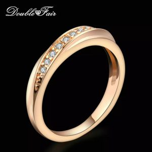 Double Fair Classic Unique Wedding Engagement Rings For Women Cubic Zirconia