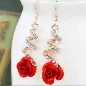 Red-Rose Earrings-1