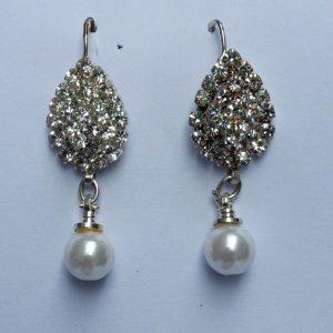 Earrings-Silver-Crystal-Pearl