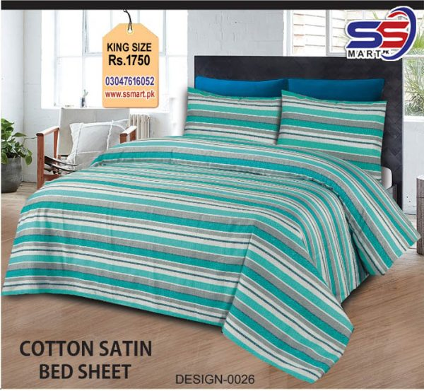 Bed Sheet Cotton Satin
